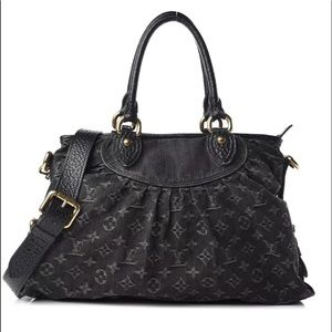 62662e23c208 Louis Vuitton. Louis Vuitton Neo Cabby MM black denim bag